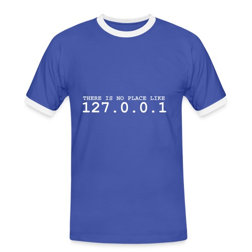 loopback device - Männer Kontrast-T-Shirt
