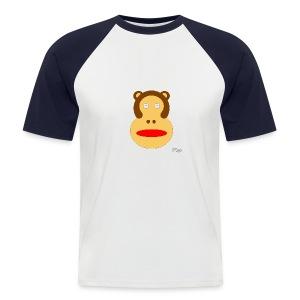 Paint aap shirt - Mannen baseballshirt korte mouw