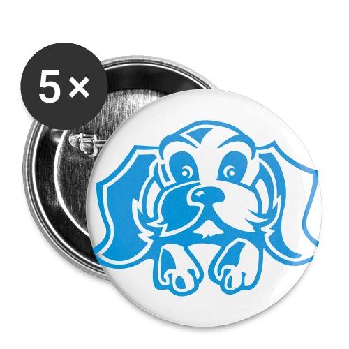 5 Grote buttons met honden plaatjes - Buttons groot 56 mm (5-pack)