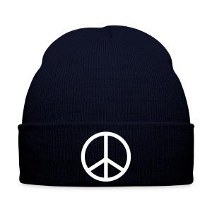 peace blue hat - Winter Hat