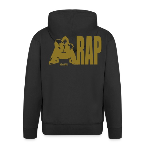 Rap Hoodie Black - Men's Premium Hooded Jacket