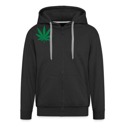 Veste à capuche Premium Homme - cannabis