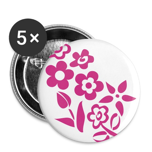 Badge Fleurs - Badge grand 56 mm