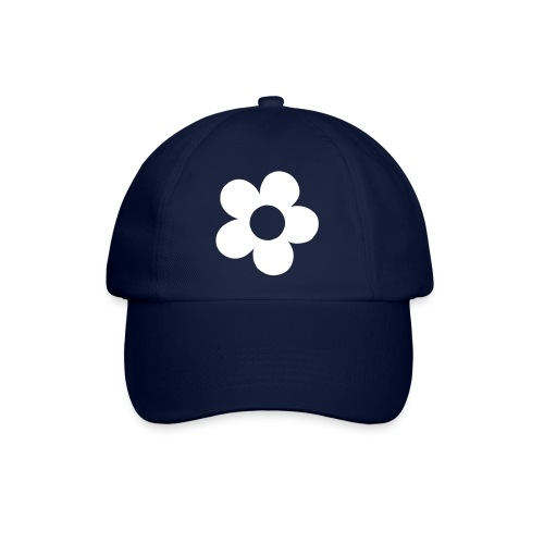 caps med blomst - Baseballcap