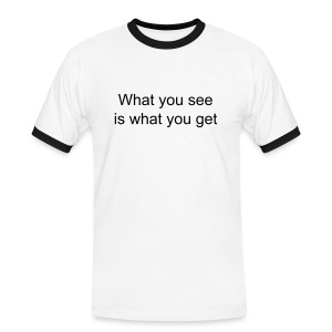 What you see ... - T-shirt contrasté Homme