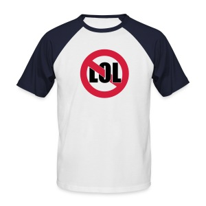 Not LOL / Dead Cities (back) - Men's Baseball T-Shirt