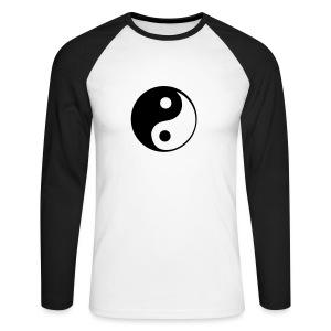 Longsleeve Ying Yang - Koszulka męska bejsbolowa z długim rękawem