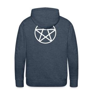 Bluza z kapturem Pentagram - Bluza męska Premium z kapturem