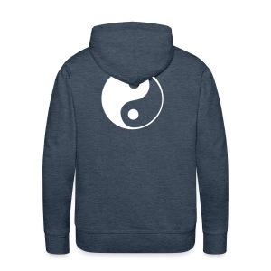 Bluza z kapturem Ying-Yang - Bluza męska Premium z kapturem