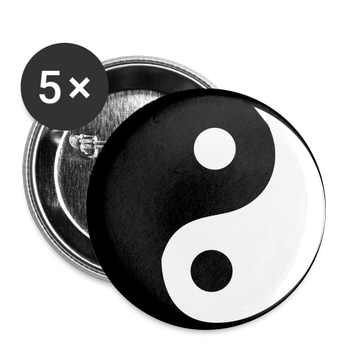 Przypinka 56mm Ying-Yang - Przypinka duża 56 mm