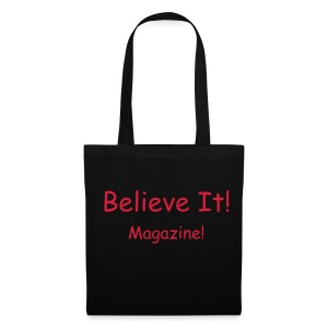 Red/Black Writing Bag - Tote Bag