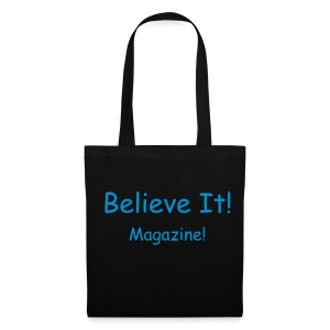 Blue/Black Writing Bag - Tote Bag