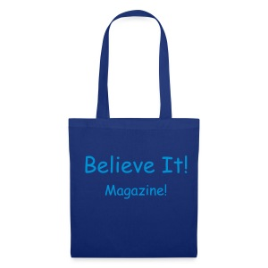 Blue/Blue Writing Bag - Tote Bag