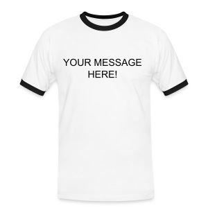Personalised Mens' T-Shirt - Men's Ringer Shirt
