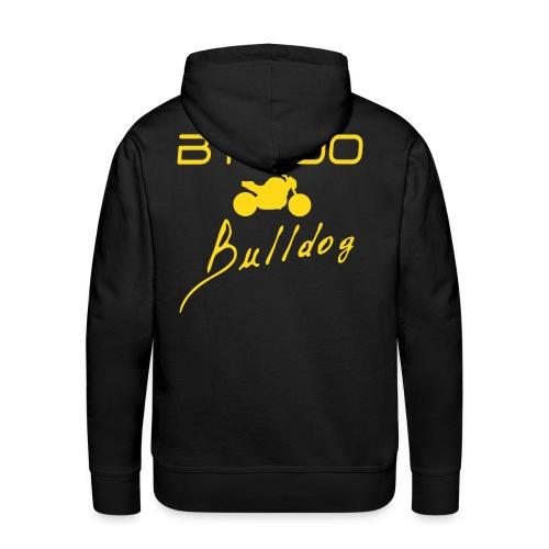 Sweat capuche noir logo jaune - Sweat-shirt à capuche Premium pour hommes
