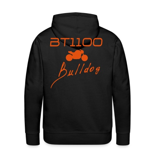 Sweat capuche noir logo orange - Sweat-shirt à capuche Premium pour hommes