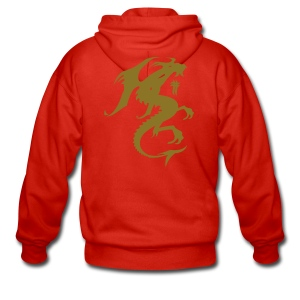 Hooded Jacket (Gold Dragon) - Men's Premium Hooded Jacket