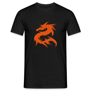 Dragon -Svart - T-shirt herr