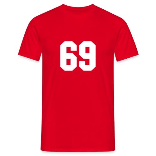 69 -Röd2 - T-shirt herr