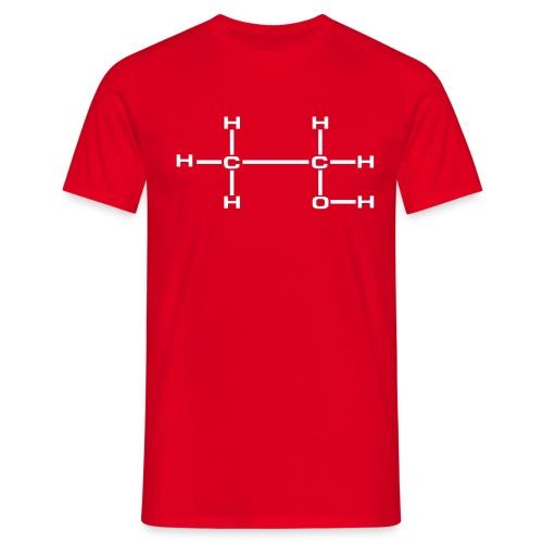 Ethylalkohol Molekül - Männer T-Shirt
