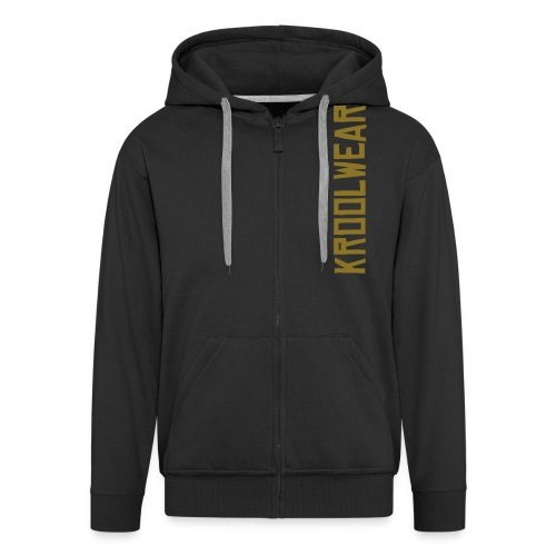 Black/Gold 'Eyes on me' Hoody - Men's Premium Hooded Jacket
