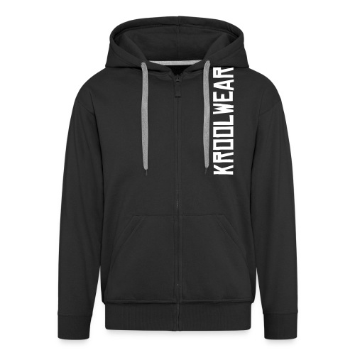 Black/White 'Eyes on me' Hoody - Men's Premium Hooded Jacket
