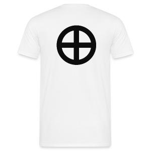 T-shirt Krzyż słoneczny (tył) - Koszulka męska