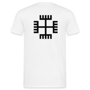 T-shirt Krzyż słowiański / Ręce boga (tył) - Koszulka męska