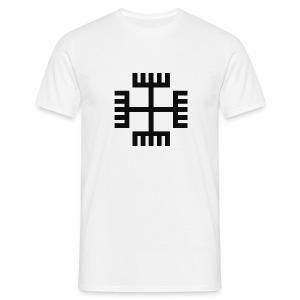 T-shirt Krzyż słowiański / Ręce boga (przód) - Koszulka męska