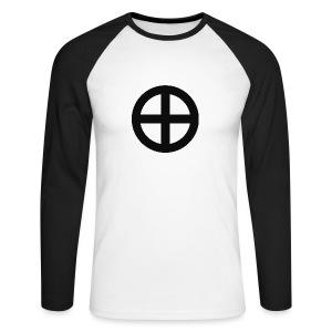 Longsleeve Krzyż słoneczny (przód) - Koszulka męska bejsbolowa z długim rękawem