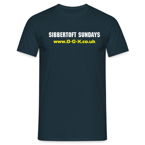 Sibbertoft Sundays FRONT - Men's T-Shirt
