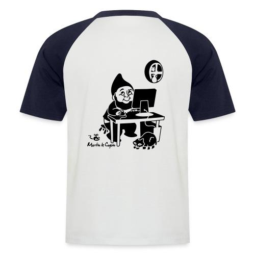 Dessin au dos - T-shirt baseball manches courtes Homme
