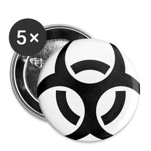 Biohazard badges - Buttons small 25 mm