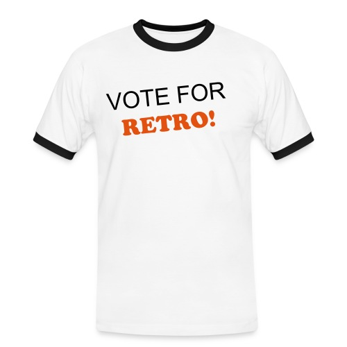 Vote for Retro T-Shirt - Men's Ringer Shirt
