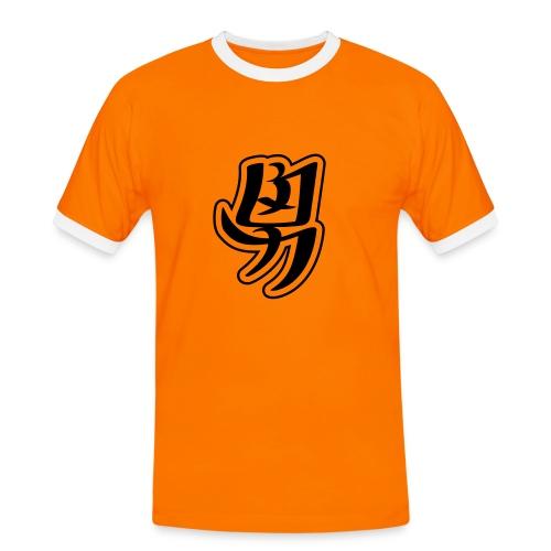 Japan tröja - Kontrast-T-shirt herr