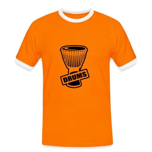 Drums - Männer Kontrast-T-Shirt