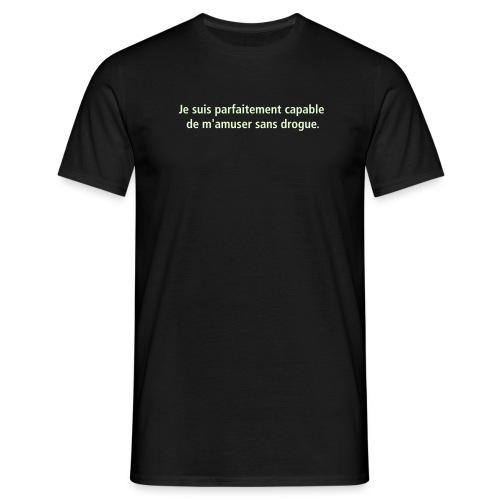 T-shirt Homme - PLUS DE 100 T-SHIRTS POUR BRILLER EN SOCIETE !!! AVEC LOGO PHOSPHORESCENT !!!  MORE THAN 100 T-SHIRTS TO  SHINE EVERY NIGHT !!!  LOGO GLOW IN THE DARK !!!