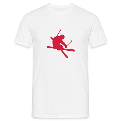 Skier -Vit - T-shirt herr