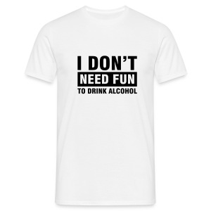 Alcohol -Vit - T-shirt herr