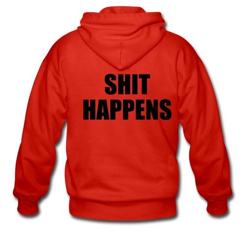 Hooded Jacket (Shit Happens) - Men's Premium Hooded Jacket