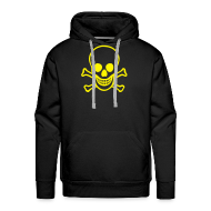 Hoodies & Sweatshirts ~ Men's Premium Hoodie ~ Hollow Skull Design - M-skull on the back