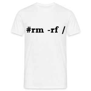 Koszulka rm -rf/ (tańsza) - Koszulka męska