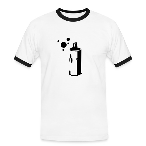 T-shirt Homme Blanc Bombe de Peinture - T-shirt contrasté Homme