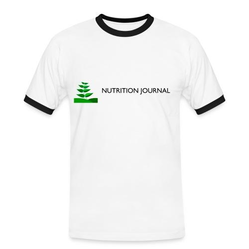 Nutrition Journal (Men's Slim Contrast T) - Men's Ringer Shirt