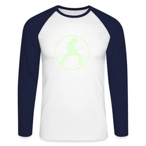 T-shirt baseball manches longues Homme - logo de face phosphoresent pour que même dans la nuit votre attirance rock soit vue !