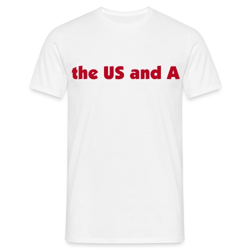 The US And A Shirt / White - Männer T-Shirt
