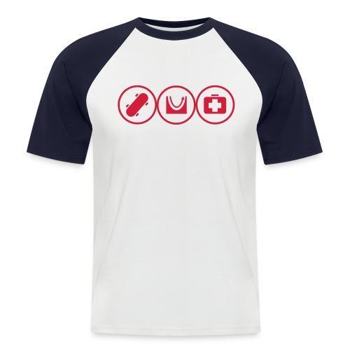Skate Icon - Men's Baseball T-Shirt