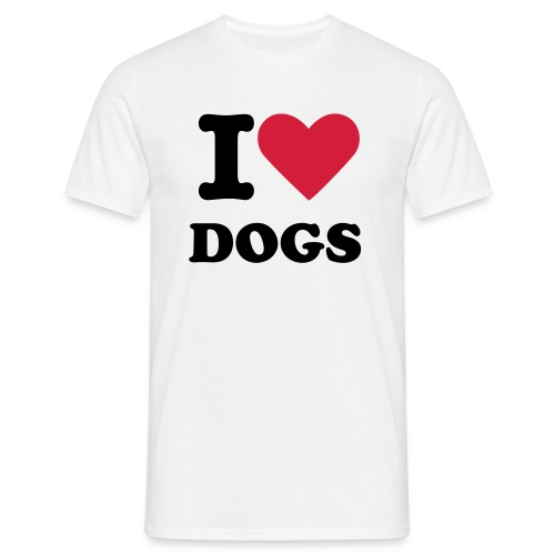 I Heart Dogs - Men's T-Shirt