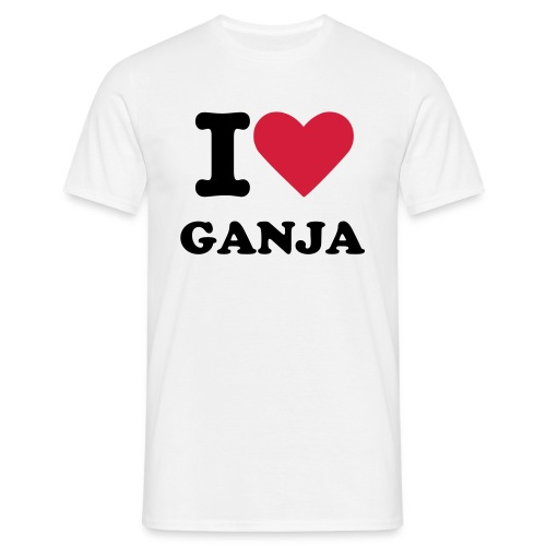 I Heart Ganja - Men's T-Shirt