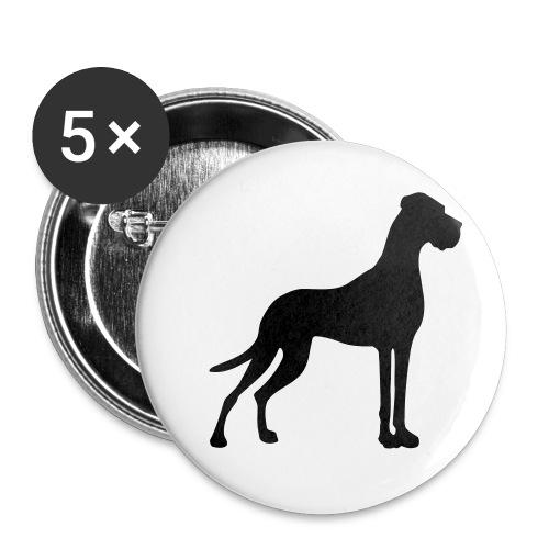 25 mm Button - Die Kleinsten - Dogge - Buttons klein 25 mm